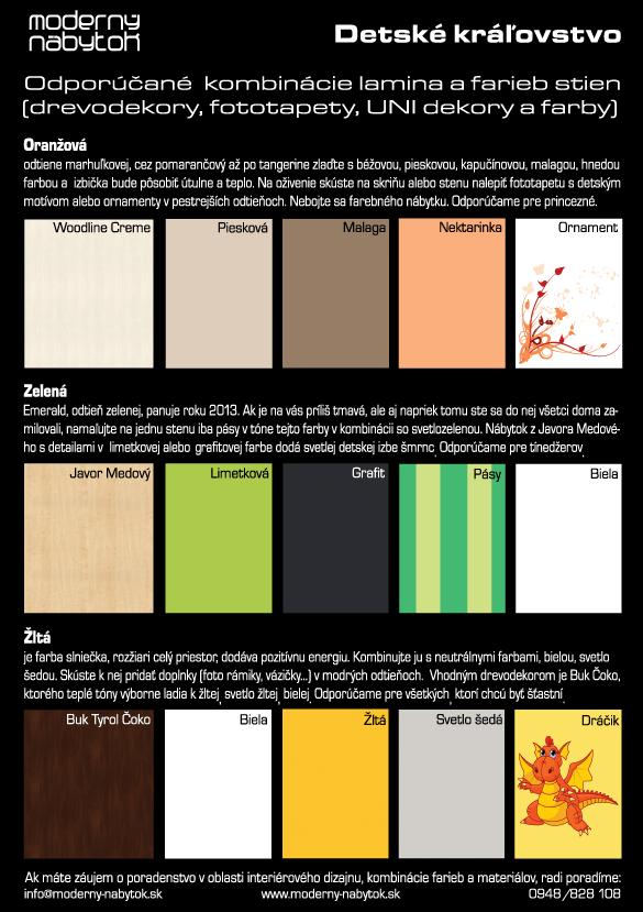 Vzorky farieb do detskej izby